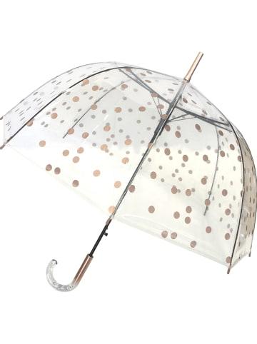"""Le Monde du Parapluie Stockschirm """"Dots"""" in Transparent/ Gold - Ø 85 cm"""