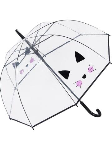 """Le Monde du Parapluie Parasol """"Cute Cat"""" w kolorze czarnym - Ø 85 cm"""