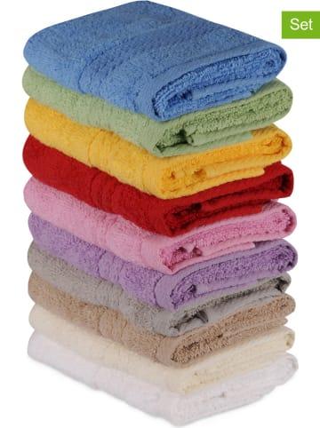 """Colorful Cotton 10-delige set: gastendoeken """"Rainbow"""" meerkleurig"""