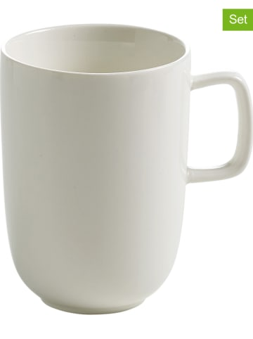 """Maxwell & Williams 2er-Set: Kaffeetassen """"Bisou"""" in Weiß - 350 ml"""