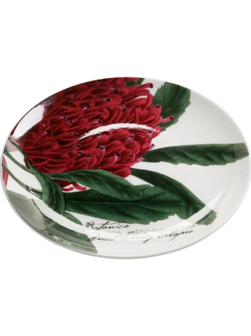 "Maxwell & Williams Snackbord ""Floral - Telopea"" wit/groen/rood - Ø 15,5 cm"