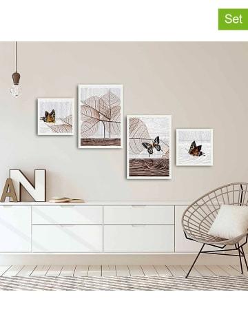 ABERTO DESIGN 4er-Set: Gerahmte Kunstdrucke