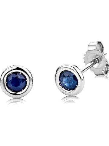 Diamant Exquis Witgouden oorstekers met edelstenen