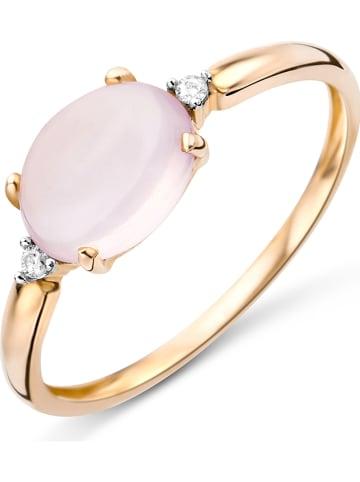 Revoni Roségold-Ring mit Diamanten