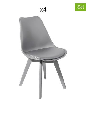 Tomasucci 4-delige set: stoelen grijs - (B)49 x (H)81 x (D)54 cm
