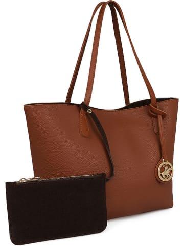 Beverly Hills Polo Club Shopper bag w kolorze jasnobrązowym - 28 x 44 x 14 cm
