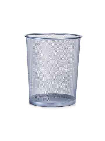 Zeller Kosz w kolorze srebrnym na śmieci - (W)35 x Ø 29,5 cm