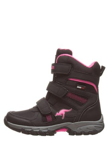 "Kangaroos Winterboots ""K-Rani RTX"" in Schwarz/ Pink"