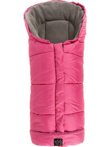 "Kaiser Naturfellprodukte Thermo-voetenzak ""Jo"" roze/lichtgrijs - (L)105 x (B)48 cm"