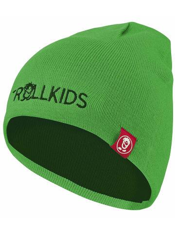 """Trollkids Dwustronna czapka beanie """"Troll"""" w kolorze zielonym"""
