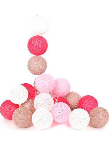 The Home Deco Kids Girlanda LED w kolorze różowo-beżowym - dł. 345 cm