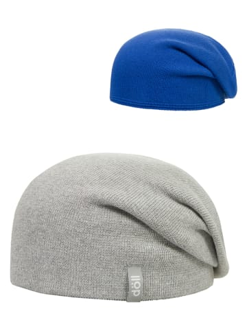 Döll Dwustronna czapka w kolorze jasnoszarym