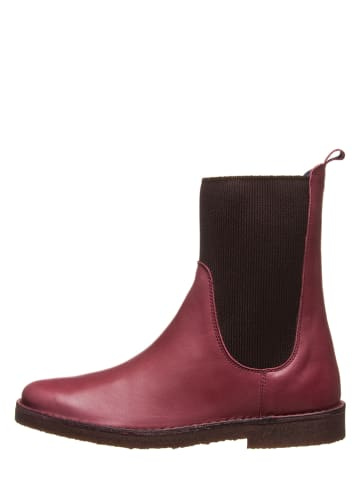 Kmins woman Leder-Chelsea-Boots in Bordeaux