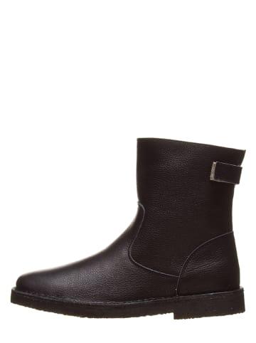 Kmins woman Leder-Boots in Schwarz