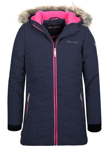"Trollkids Ski-/ Snowboardjacke ""Lifjell"" in Dunkelblau/ Pink"