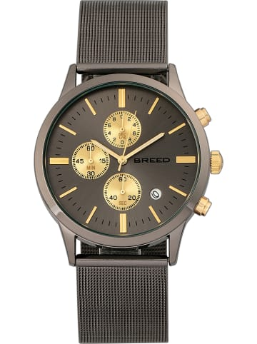 """Breed Chronograph """"Espinosa"""" in Anthrazit/ Gold"""