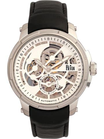 """Reign Zegarek automatyczny """"Matheson"""" w kolorze czarno-srebrno-białym"""
