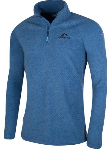 "Westfjord Fleece trui ""Snaefell"" blauw"