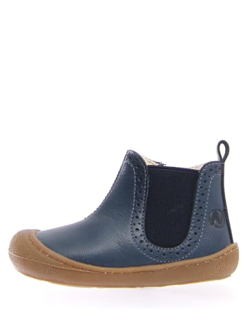 Naturino Leder-Chelsea-Boots in Blau