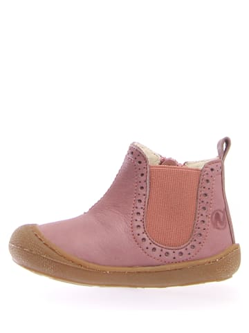 Naturino Leder-Chelsea-Boots in Rosa