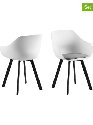 """AC Design Krzesła (2 szt.) """"Tina"""" w kolorze biało-czarnym"""