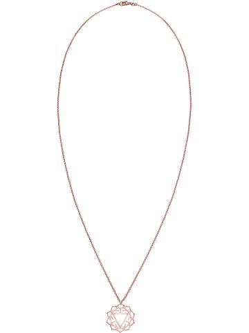 Julie & Grace Rosévergold. Halskette mit Anhänger - (L)80 cm