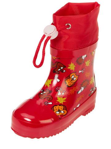 Playshoes Kalosze w kolorze czerwonym