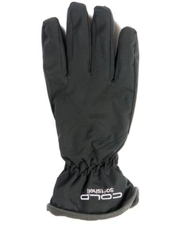 COLD Rękawiczki softshellowe w kolorze czarnym