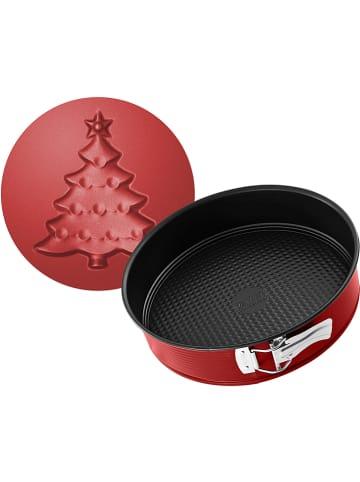 """Zenker Tortownica """"Sparkling Christmas"""" w kolorze czerwonym z motywem - Ø 26 cm"""