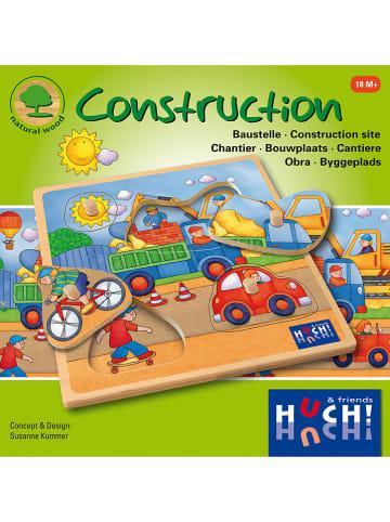 "Huch & Friends 4tlg. Knopfpuzzle ""Construction"" - ab 18 Monaten"