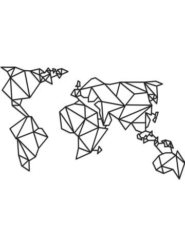 "Really Nice Things Wandobjekt ""Worldmap"" in Schwarz - (B)40 x (H)70 cm"