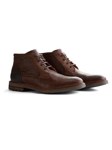 "TRAVELIN' Leren sneakers ""Backhill"" bruin"