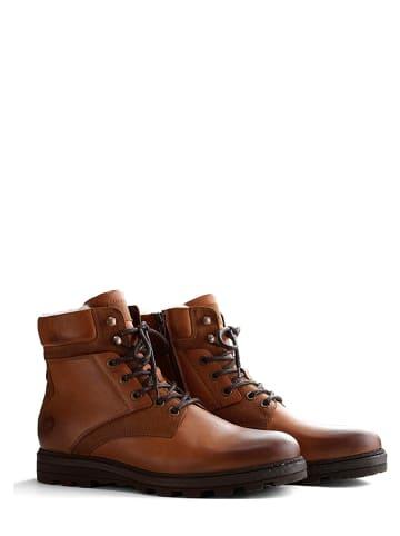 "TRAVELIN' Leren boots ""Selje"" lichtbruin"