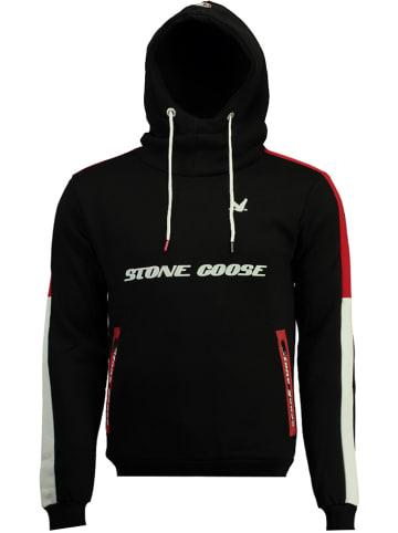 """Stone Goose Bluza """"Farstone"""" w kolorze czarno-czerwono-białym"""