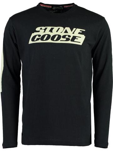 """Stone Goose Koszulka """"Jike"""" w kolorze ciemnoszarym"""