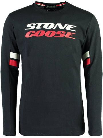 Stone Goose Koszulka w kolorze granatowym
