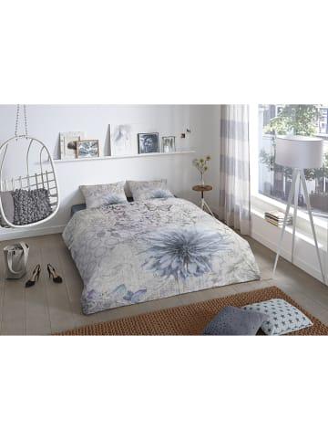"""Good Morning Beddengoedset """"Melia"""" grijs/blauw"""