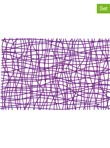 """Koziol 6-delige set: placemats """"Silk"""" paars - (L)45 x (B)32 cm"""