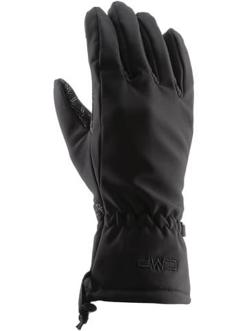 CMP Rękawiczki softshellowe w kolorze czarnym