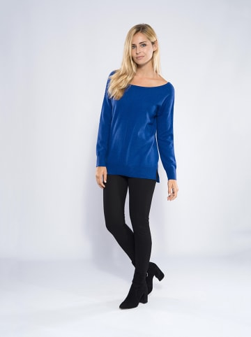 "Perfect Cashmere Kaschmir-Pullover ""Sasha"" in Blau"