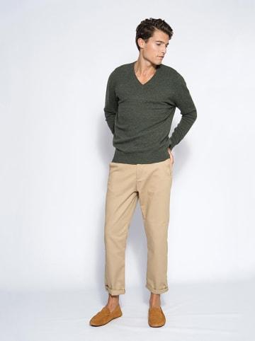 """Perfect Cashmere Kaszmirowy sweter """"Alexander"""" w kolorze ciemnozielonym"""