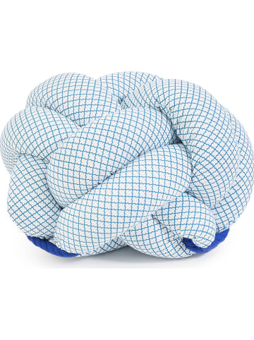 Pandora Trade Poef crème/lichtblauw/blauw - (B)28 x (H)45 cm