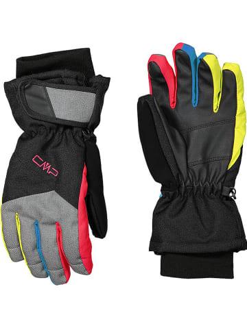 CMP Rękawiczki narciarskie w kolorze czarnym ze wzorem
