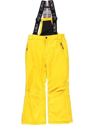 CMP Spodnie narciarskie w kolorze żółtym
