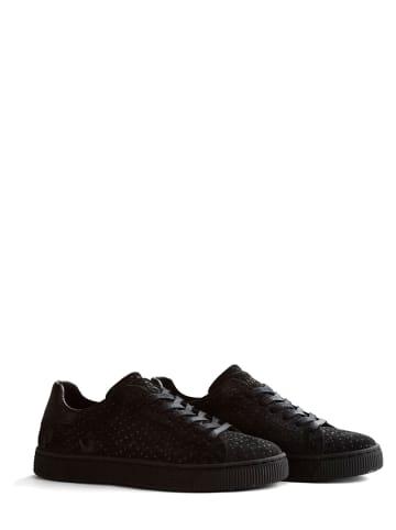 """NoGRZ Leren sneakers """"C.Wren"""" zwart"""