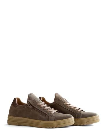"""NoGRZ Leder-Sneakers """"J.Hoban"""" in Taupe"""
