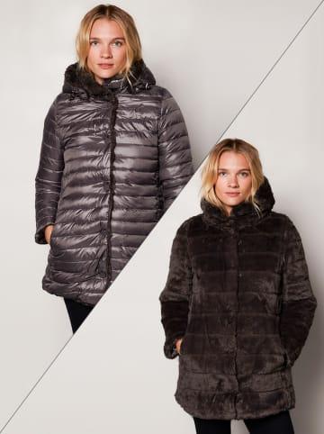 Winter Selection Omkeerbare wintermantel grijs