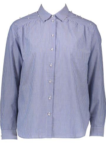 Seidensticker Blouse - regular fit - blauw/wit