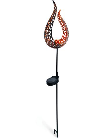 Näve Ogrodowa lampa solarna LED w kolorze brązowym - wys. 90 cm