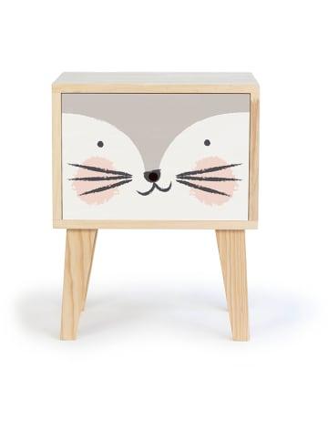 """The Wild Hug Nachttisch """"Kitten"""" in Natur/ Weiß - (B)32 x (H)57 x (T)32 cm"""